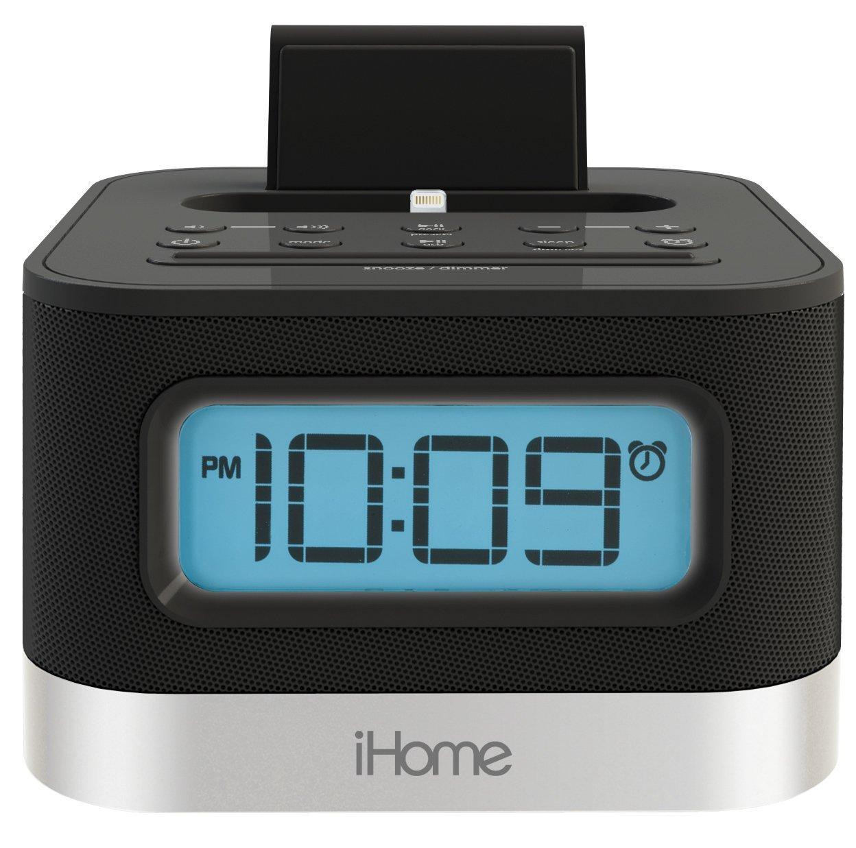 Máy Radio   IHome ipl8bn stereo FM radio của đồng hồ 5S và iPhone 6 / 5 / 6plus Bolt ở bến tàu.