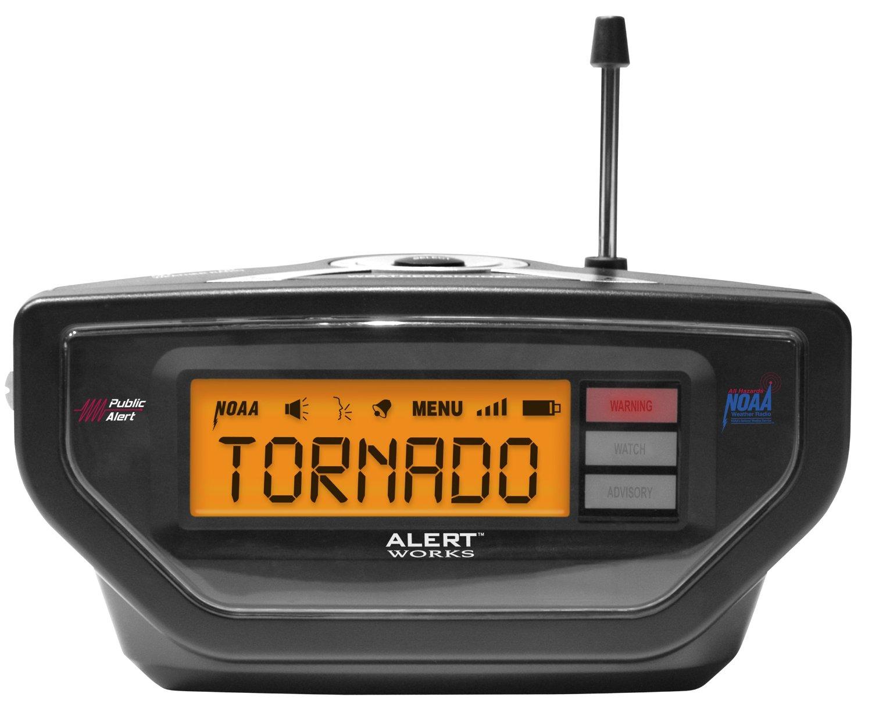 Báo cáo cảnh báo việc ear-10 thời tiết nguy hiểm Radio (đen)