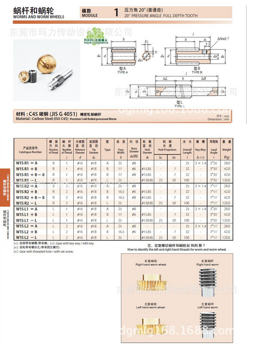 Supply KG cooperating gear KG worm gear G1A 30R1 = 10