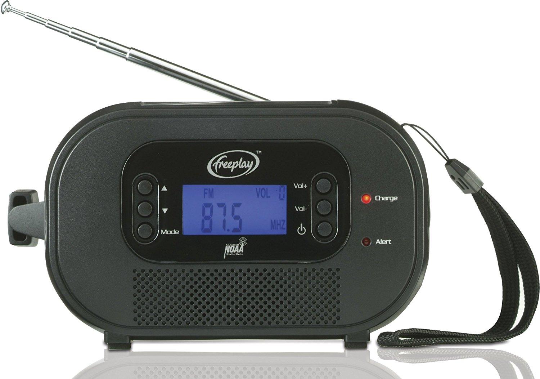 Máy Radio   Tự do b120-en8-bk9-0080-fp-us AM / FM / WX đèn pin năng lượng điện từ (đen)