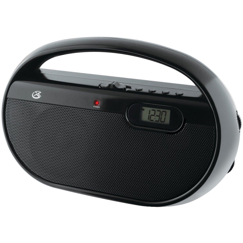 GPX, công ty AM/FM radio xách tay r602b số đồng hồ và nhập vào dòng (đen)