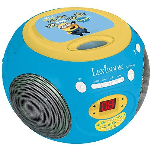 Lexibook - RCD102DES - Radio Lecteur nhỏ màu vàng người máy nghe đĩa CD