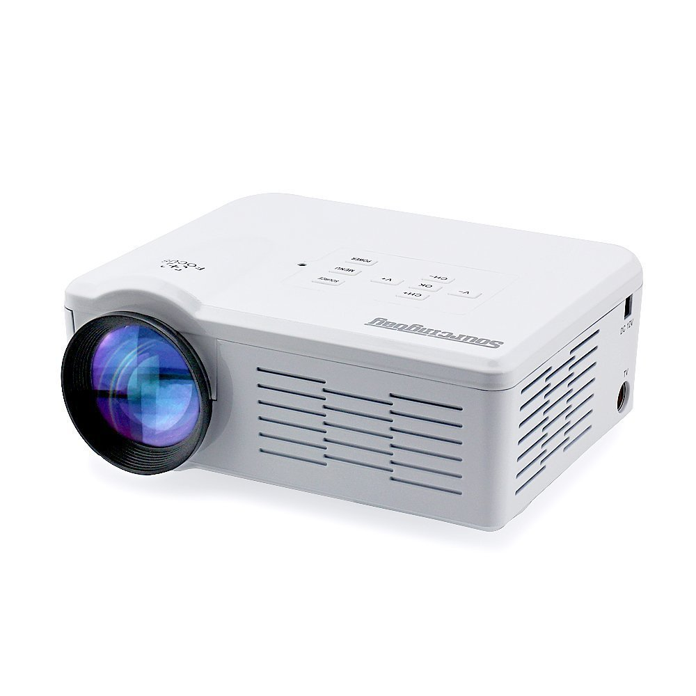 Máy chiếu  Sourcingbay prj-bl35-w Portable đã dẫn đến rạp mini máy chiếu phim gia đình, White.