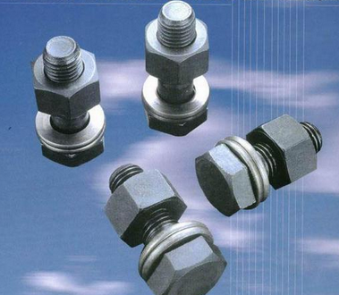 Tán  Manufacturers of steel construction quality GB1229 steel structure bolts with a pair of nuts a