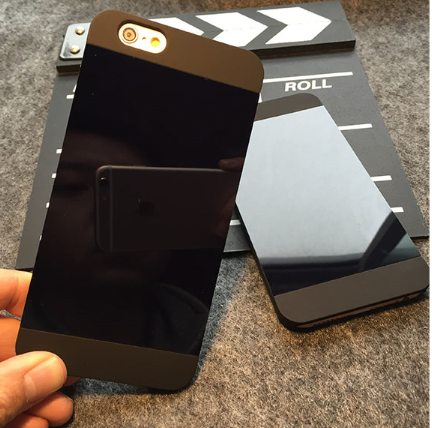 A couple of black frosted mirror on behalf of apple iphone6plus mobile phone shell 6S 5SE protective