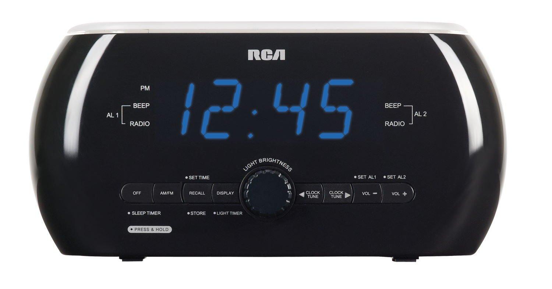 Máy Radio   Có thể kích hoạt ánh sáng chuyển động mềm đồng hồ của RCA Radio.