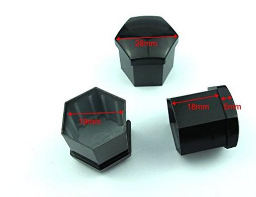 Bu-lông  20PCs 19mm Black Bolts nhựa Covers Bảo vệ Nut và Công cụ diệt xe Xe Universal