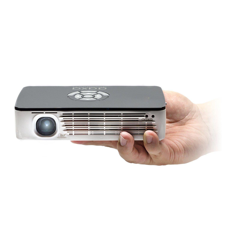 Máy chiếu  Aaxa P700 WXGA dẫn máy siêu nhỏ, 650, 70 + phút pin nguyên sinh 1280x800 độ nét cao, độ