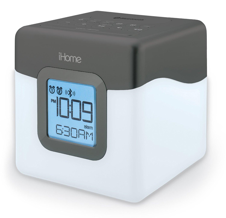 IHome iBT28GC Bluetooth FM radio, đồng hồ báo thức màu đôi hỗ trợ sạc USB.