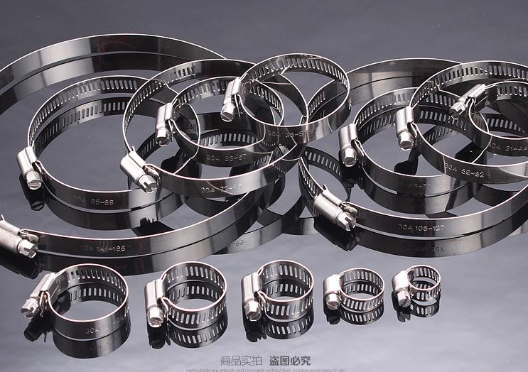 304 stainless steel American hose clamp hoop hoop tube clip 21-38