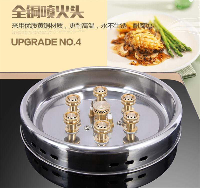 Bếp gas âm  OEM embedded gas stove double stove gas energy-saving household fire gas stove cooking