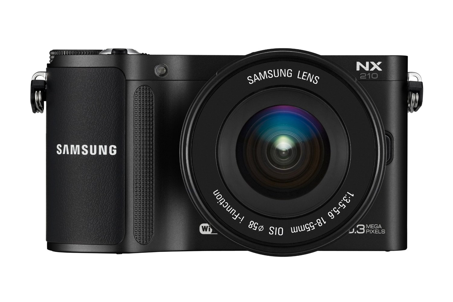 Samsung NX210 Digital WIFI Compact System Camera - Black (20.3MP, 18-55mm Lense Kit) 3.0 inch AMOLED