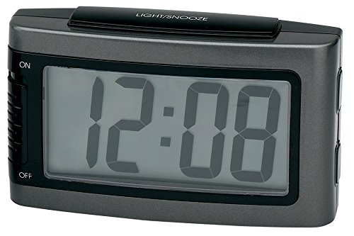 Máy Radio   Impecca 1.3 LCD hiển thị inch pin đồng hồ báo thức, khuất bóng, màu xám kim loại khổng