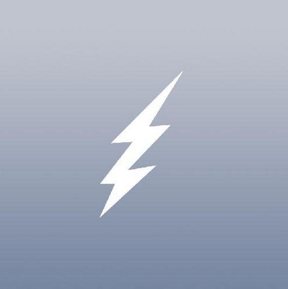 Trắng Art Wall Art Cửa hàng Vinyl Cửa sổ Trang trí nội thất Macbook Keo Vinyl Lightning Bolt 4X4 Rac