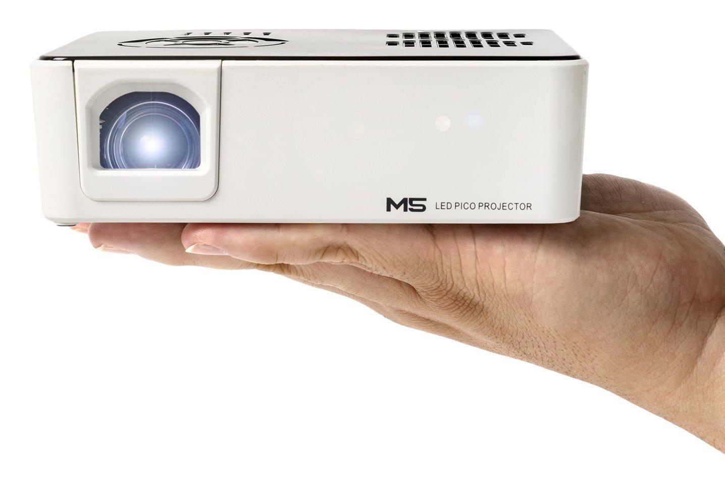 Máy chiếu  Aaxa M5 mini thương mại tích hợp máy di động pin, 900 của Cao nguyên sinh WXGA độ nét ca