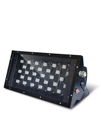 UV-LED 365/30 LEDLight floodlight lamp black
