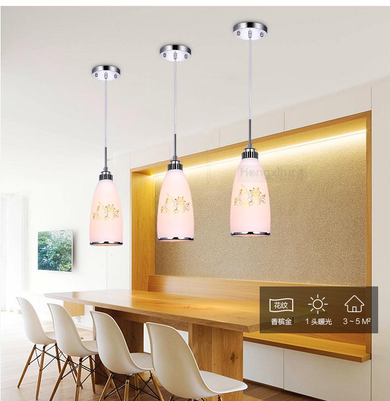 Bữa ăn sáng tạo tính cách ly LED hút đèn chùm đèn hướng dẫn đèn hiện đại đơn giản. 3 đầu nhà ăn nhà