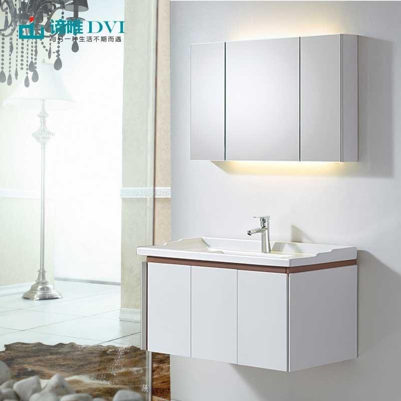 Tủ phòng tắm gỗ sồi có bồn rửa mặt phong cách hiện đại đơn giản D3008
