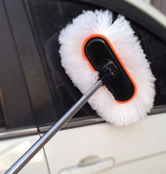 Dụng cụ rửa xe   Trailer sáp rửa xe bàn chải có lông mềm bụi telescopic khăn lau bụi sạch lau nguồn