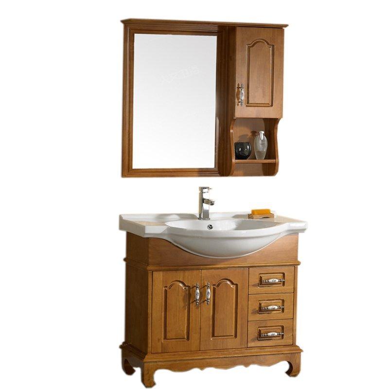 Tủ phòng tắm gỗ sồi chất lượng cao có kèm bồn rửa mặt