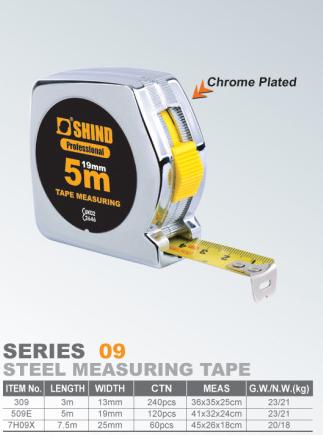 Dụng cụ đo lường Các nhà sản xuất cung cấp Diêu đo thép công cụ băng / băng 5 mét bằng thép không gỉ