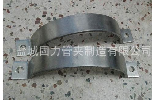 GJF1 dày đơn loại ống bu lông căng kẹp mạ thép dẹt thẻ kép kẹp ống thép không gỉ 304