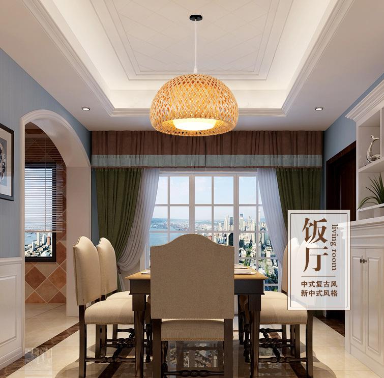 Các nhà sản xuất đồ tre trúc Đông Nam Á đèn sáng tạo cây tre nhà hàng quán nước trà thất đèn phòng t