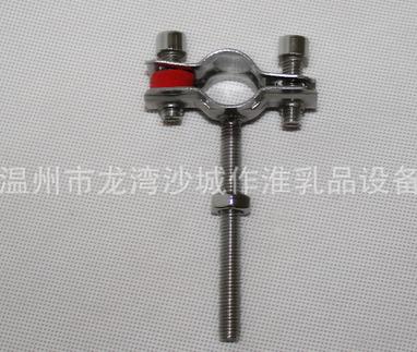Nhà máy kẹp ống trực tiếp: kim loại bên ngoài 304/201 ống thép không gỉ bên ngoài luồng hỗ trợ ống d