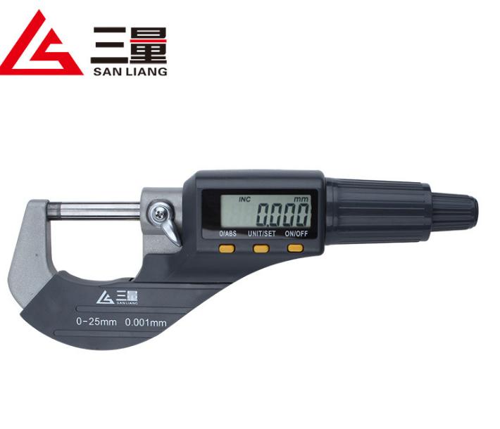 Dụng cụ đo lường  Đo lượng đường kính ngoài của ba micromet kỹ thuật số micromet điện tử vít microm