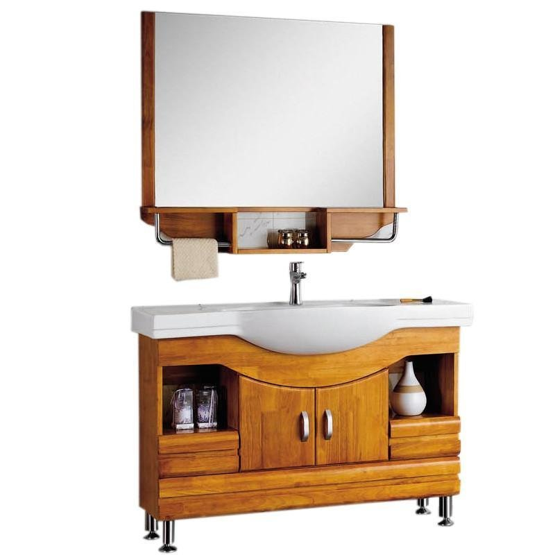 Tủ phòng tắm bằng gỗ sồi kết hợp bồn rửa mặt 8188