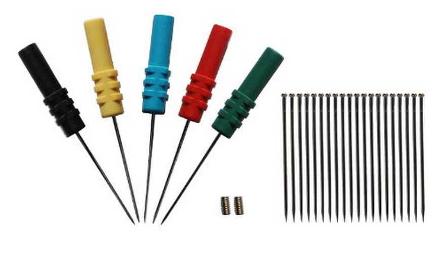 Công cụ chằng buộc  Hantek Back Pinning Đầu dò / Needle / Piercing Probes Set (Bộ 5, Màu sắc các lo