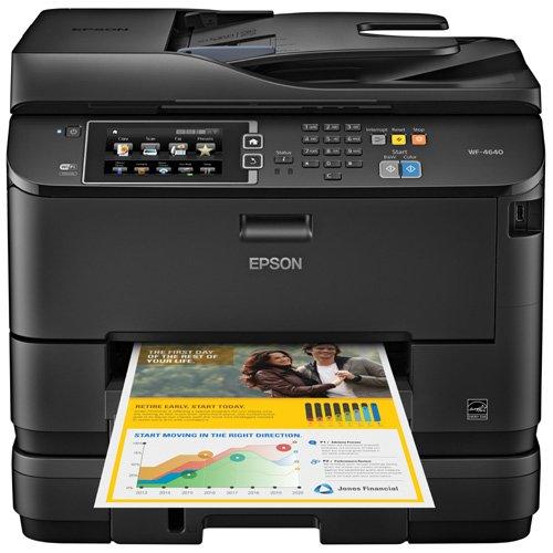 Lực lượng lao động wf-4640 Epson và một máy in phun màu không dây với máy photocopy và máy quét