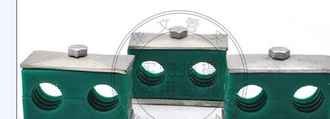 Cung cấp ống kẹp với hai lỗ đôi ống nhựa nhà máy kẹp đảm bảo chất lượng trực tiếp