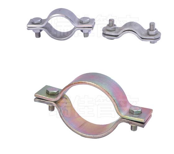 Ống kẹp  Mạ kẽm thép nhà máy kẹp ống trực tiếp cơ khí đôi ống kẹp tia ống kim loại được đặt bằng ph