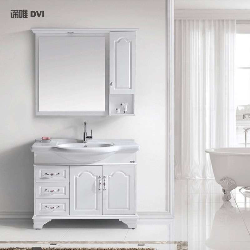 Tủ phòng tắm kiểu Mỹ cao cấp có bồn rửa mặt 6018