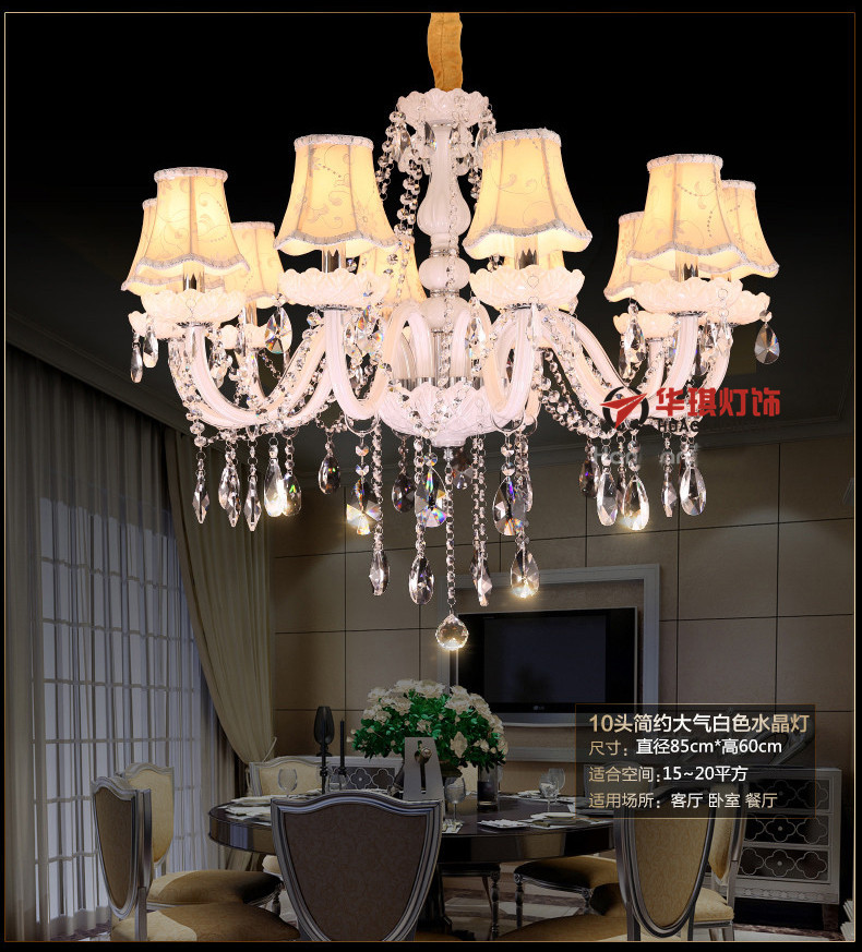 Nến trắng châu Âu đèn pha lê phòng khách phòng ngủ nhà hàng khách sạn nhà sản xuất đèn chùm đèn pha