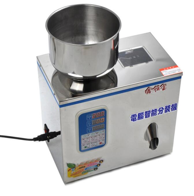 Seed filling medicine tea grain vibration food powder powder end grain automatic weighing packing ma