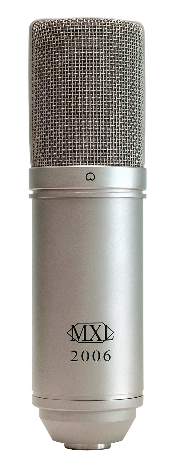Micro  MXL 2006 Large Gold Diaphragm Condenser Microphone with MXL-57 Shock Mount and Carrying Case