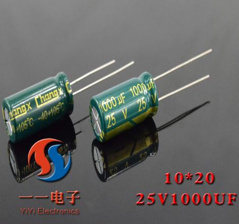 Tụ Ceramic   Nhà máy tần số trực tiếp kháng thấp tụ điện 10 * 20 25v1000uf gốc đảm bảo chất lượng đ