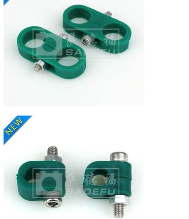 Ống kẹp  [Sade Fu] nhỏ kẹp ống nhựa màu xanh lá cây