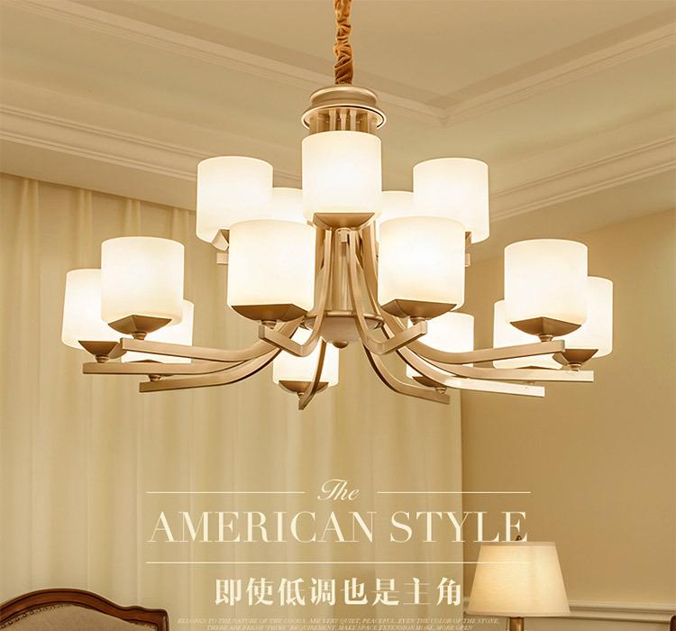 Mỹ châu Âu nông thôn rất đơn giản. Phòng ngủ phòng khách làm đèn chùm đèn đồng tính cách nhà hàng kh
