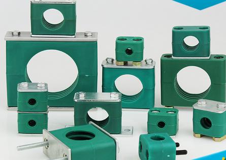 Ống kẹp  Cung cấp STAUFF tiêu chuẩn ánh sáng / nặng / ống kẹp nhựa với hai lỗ ống nylon kẹp ống nhô