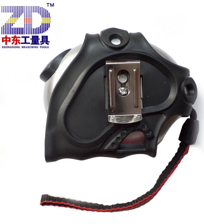 Dụng cụ đo lường  Băng thép PVC áo khoác mặc chân thả Thương Khâu Công cụ Trung Đông 5m Huanggong Y