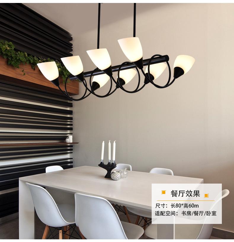 Đèn phòng khách phòng bầu dục nhà hàng hình chữ nhật LED đèn. Cái đèn trang trí đèn thủy tinh.