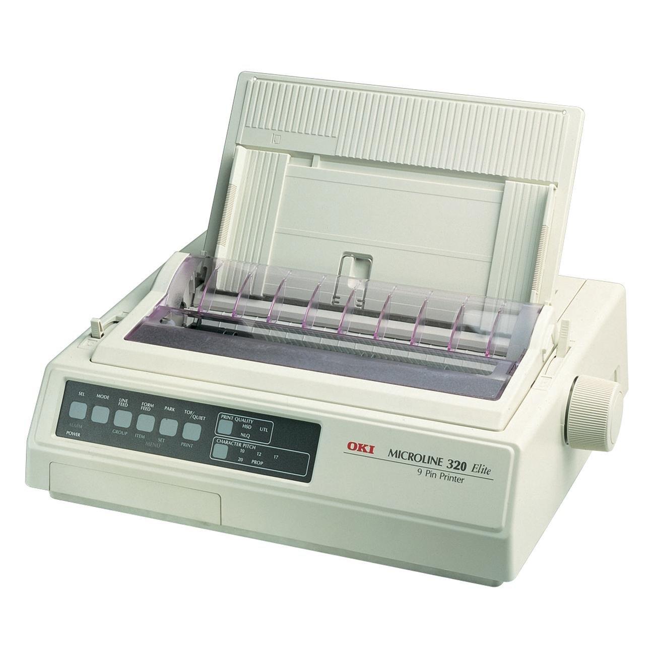 Máy in  OKI Microline 320 tinh nhuệ của máy in mạng tinh thể (240 x 216 độ phân giải, 398 x 345 X 1