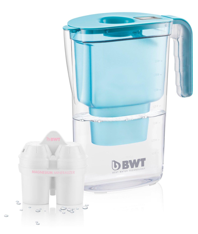 Bộ lọc nước  BWT hợp lọc bình, Vader, nhựa, màu xanh, 26.4 x 11.5 28.7 cm x