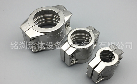 Ống kẹp  Nhà máy thép không gỉ an toàn trực tiếp hai mảnh ống ống kẹp hoop kẹp / ferrule / an toàn