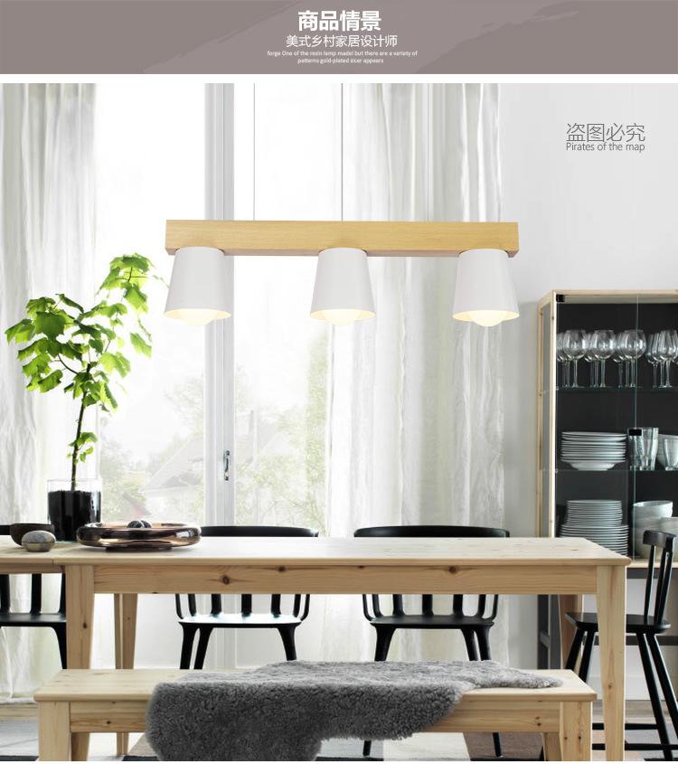 - đơn giản là, LED hiện đại hàng đầu đèn Đèn treo ba năm đầu gỗ thô cà phê đèn chùm đèn bàn Nghệ thu