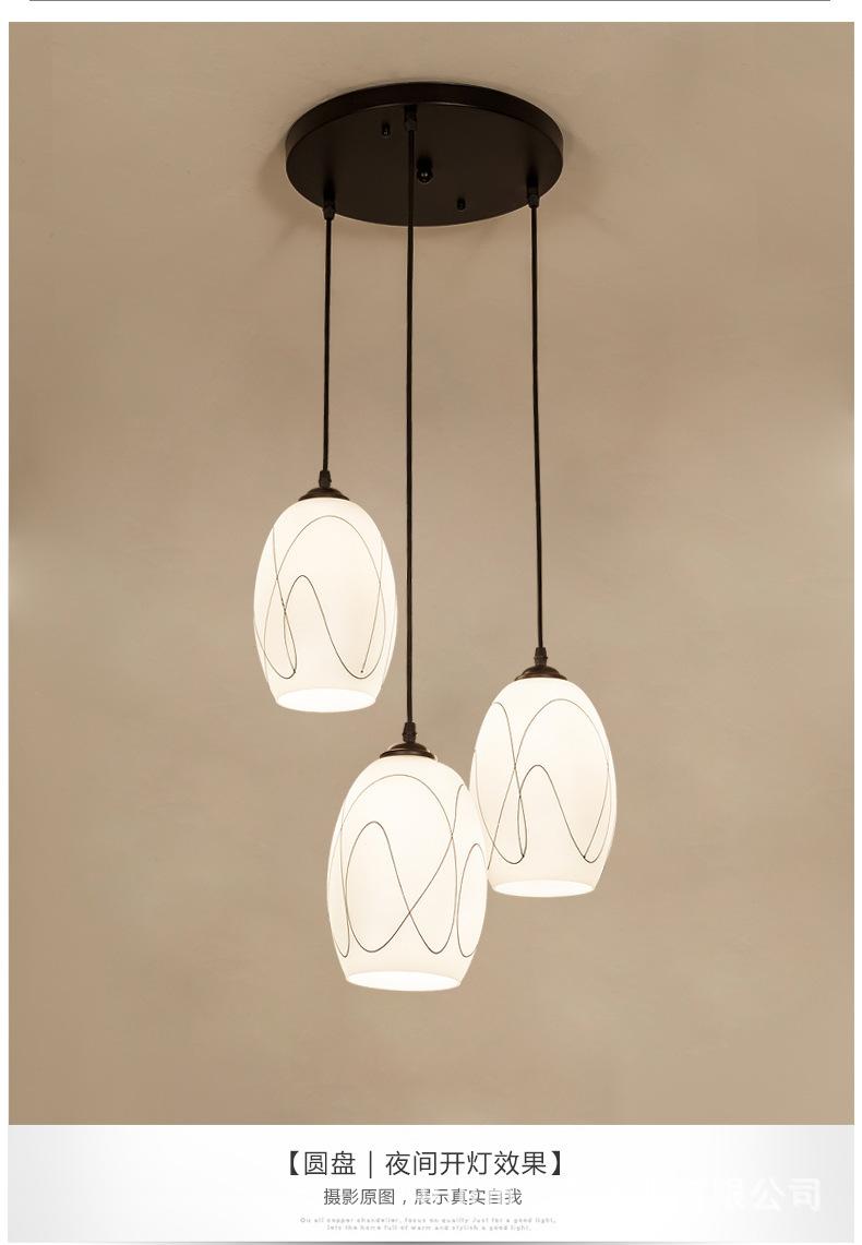 LED đèn chùm ba bữa ăn đơn giản. Đầu dây dọi đèn Đèn chùm đèn sáng tạo cá tính quầy hàng.
