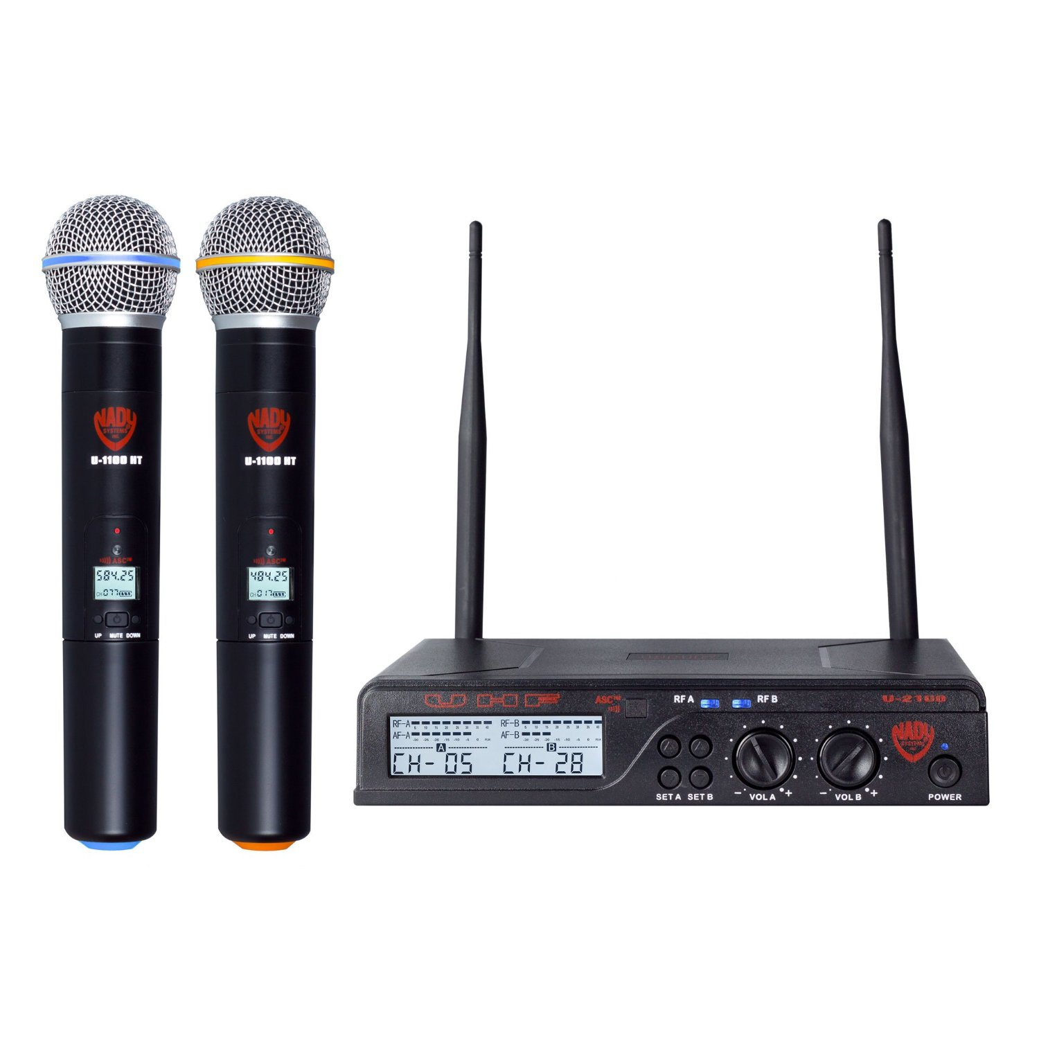 Micro  Nady U-2100 Dual HT 200-Channel UHF Wireless Handheld Microphone System